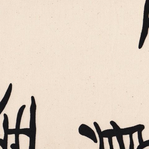 Housse futon - Jap écru noir 108